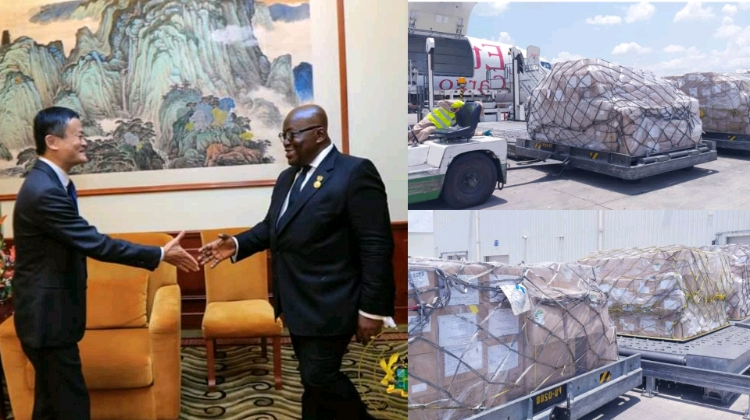 Ghana recieves medical supply from Jack Ma foundation