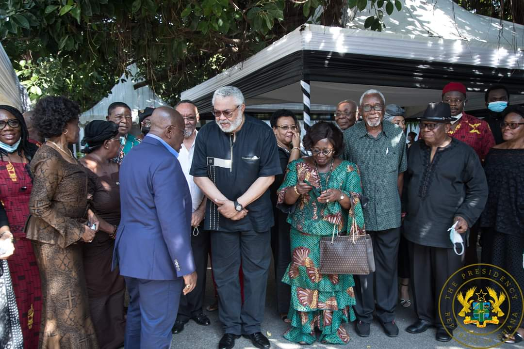 Akufo-Addo visit Rawlings, to sympathize with him