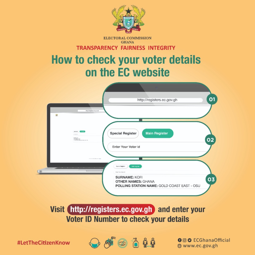 How to check your details on EC's website