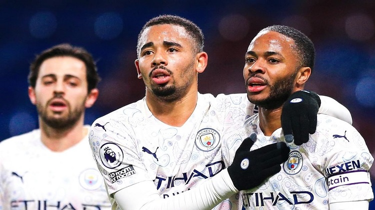 City makes it 13 wins in a row as they beat Burnley 0-2 Man City